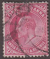 India 79 Hinged Used 1906 King Edward VII