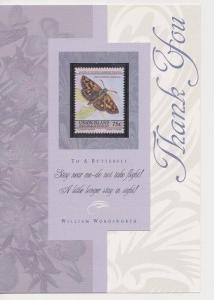 Thank You Card Featuring Union Island Butterfly Stamp