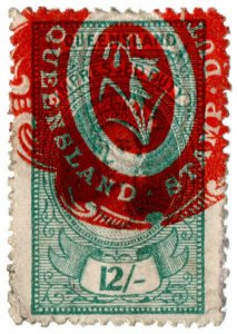 (I.B) Australia - Queensland Revenue : Impressed Duty 12/-
