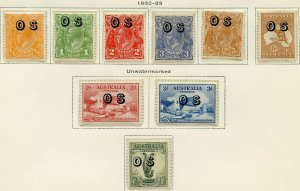 AUSTRALIA  OFFICIAL ISSUES SCOTT #O6/14  MINT HINGED  AS SHOWN