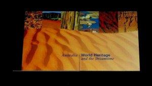 U.N. NEW YORK #743, 1999, WORLD HERITAGE,AUSTRALIA  MNH, PRESTIGE BOOKLET, LQQK!