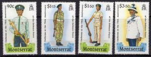 MONTSERRAT SG783/6 1989 DEFENCE FORCE MNH