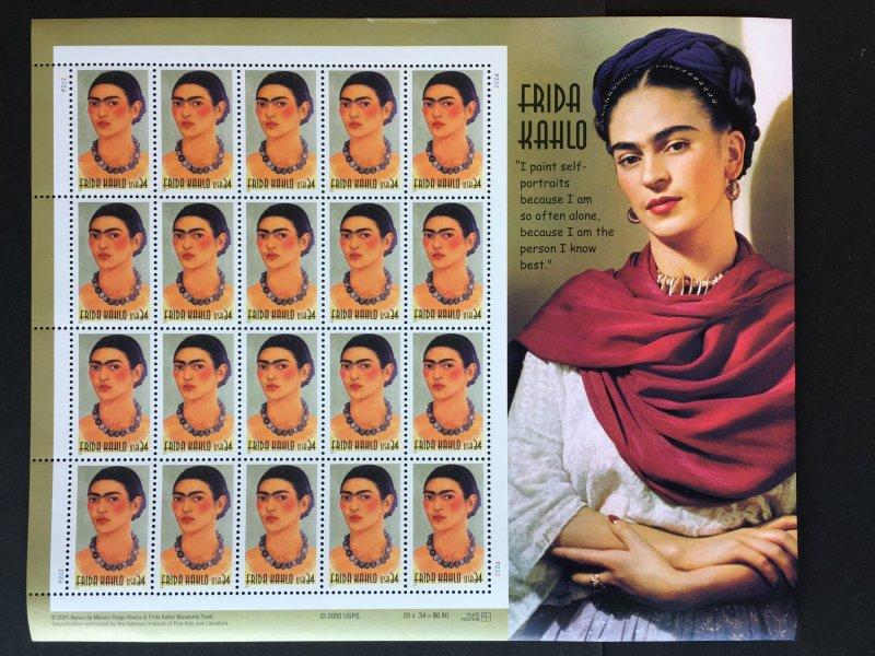 2001 sheet Frida Kahlo Sc# 3509
