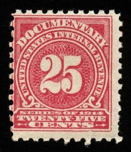 B582 U.S. Revenue Scott R202 25c wmk 190 mint OG NH, CV = $60 for H