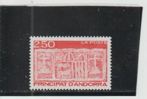 French Andorra  Scott#  384  MNH  (1991 Coat of Arms)