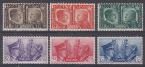 Italy Scott 413-418 Mint NH (Catalog Value $80.00)