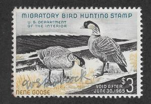 RW31 Used, Federal Duck Stamp, scv: $12.50 FREE INSURED SHIPPING30