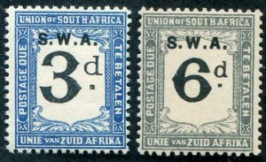 HERRICKSTAMP SOUTH WEST AFRICA Sc.# J79-80 Overprint Mint NH