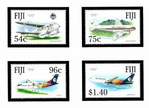Fiji 653-56 MNH 1991 Air Pacific