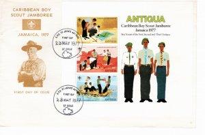 Antigua 1977 Sc 471a Souvenir Sheet Perforate FDC