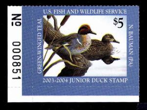 JDS 11  2003 JUNIOR DUCK STAMP - MOGNH - XF - CV $40.00 (ESP#0277)