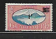 GUADELOUPE, 163, MINT HINGED, SAINTS ROADSTEAD, SURCHARGED