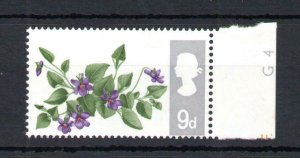 9d FLOWERS (NON-PHOSPHOR) UNMOUNTED MINT + PERFORATION SHIFT