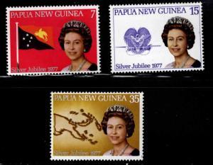PNG Papua New Guinea Scott 462-464 MNH** QE2 Silver Jubilee set