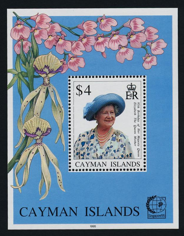 Cayman Islands 709 MNH Queen Mother 95th Birthday, Flowers