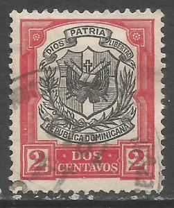 DOMINICAN REPUBLIC 180 VFU ARMS N618-8