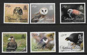 FALKLAND ISLANDS SG1338/43 2016 BIRDS OF PREY  MNH