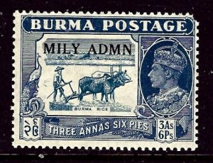 Burma 44 MH 1945 issue  rounded corner perf    (ap3396)