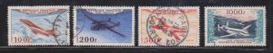 Used French Airmails Sc C29-32 - See Scan