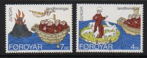 FAROE ISLANDS SG253/4 1994 EUROPA MNH