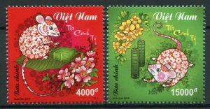 Vietnam Chinese Lunar New Year Stamps 2019 MNH Year of Rat 2020 2v Set