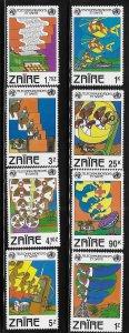 Zaire 1982 13th World Telecommunications Day Sc 1043-1050 MNH A1264