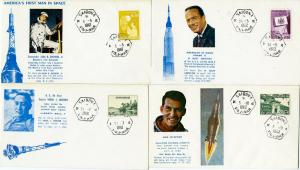 Vietnam Rare Group Of 4X Cachet 1964& 62 Space Covers
