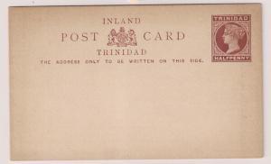 Trinidad QV postal card Mint H&G #1 Inland Post Card