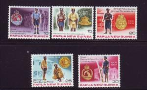 Papua New Guinea Sc486-90 Constabulary stamps mint NH