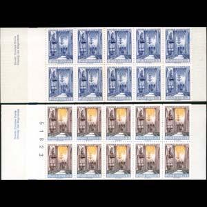 SWEDEN 1965 - Scott# 721 Test Booklets-Church Set of 2 NH