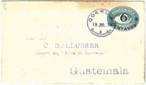 69284 - GUATEMALA - POSTAL HISTORY -  STATATIONERY COVER  Higgings & Gage # 14