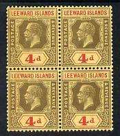 Leeward Islands 1921-32 KG5 Script CA 4d black & red ...