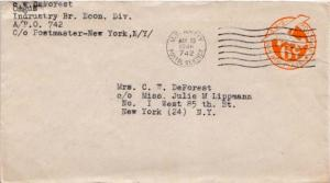 United States, Postal Stationery, Airmail, U.S. A.P.O.'s, Germany