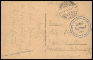Germany WWI 1917 Kraftfahrwesen Turkey Military Mission Cover Feldpost 82736