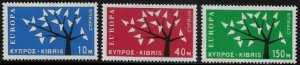 Cyprus #219-21 MNH Set - Europa - 40% Cat.