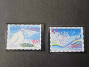 Greenland 2001 Sc 390-1 Bird set MNH