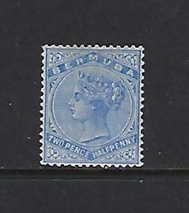 BERMUDA SCOTT #22 1883-1904 VICTORIA 21/2P (ULTRA) MINT HINGED