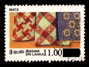 Sri Lanka SURCHARGED 1997 Mats Handicrafts 11r on 10.50r Scott.1190 Used (#6)