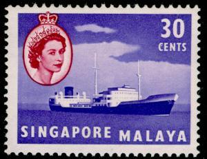 SINGAPORE SG48, 30c violet & brown-purple, M MINT.