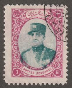 Persian stamp, Scott# 784, used hinged, 3R mag & green, B-59