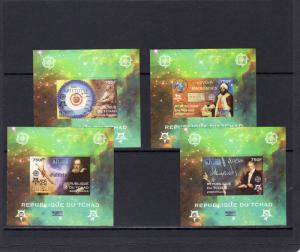 Chad 2009 EUROPA CEPT 50th.Anniversary/Galileo/Aristoteles 4 SS Imperforated MNH