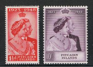 PITCAIRN ISLANDS 1949 SILVER WEDDING ISSUE