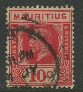 STAMP STATION PERTH Mauritius #187 KGV Definitive Issue FU Wmk 4 Type II 1922