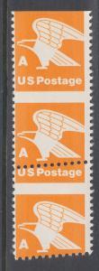 US Sc 1735 MNH. 1978  orange A rate Eagle, oblique sheet margin strip, VF