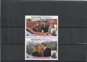 Tuvalu-Vaitupu  Scott#  69  Used Pair  (1986 Royal Wedding)
