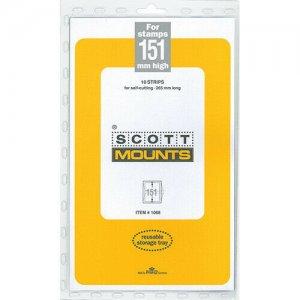 Scott/Prinz Pre-Cut Strips 265mm Long Stamp Mounts 265x151 #1068 Black