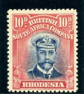 Rhodesia 1913 KGV Admiral 10d blue & red MLH. SG 247. Sc 129.