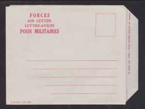 Canadian Military Forces,Post WWII Unfranked Aerogramme