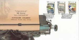 Pitcairn Islands 2013 FDC Bounty Trilogy 3v Set Cover Nordhoff James Hall Mutiny