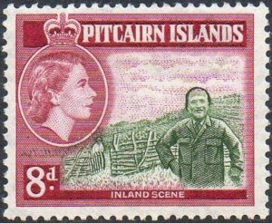 Pitcairn Islands 1957   8d Inland scene  MH
